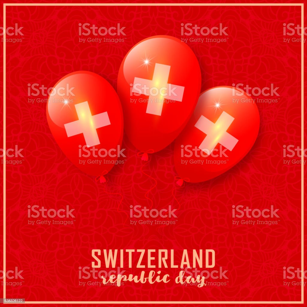 Switzerland patriotic design vector art illustration