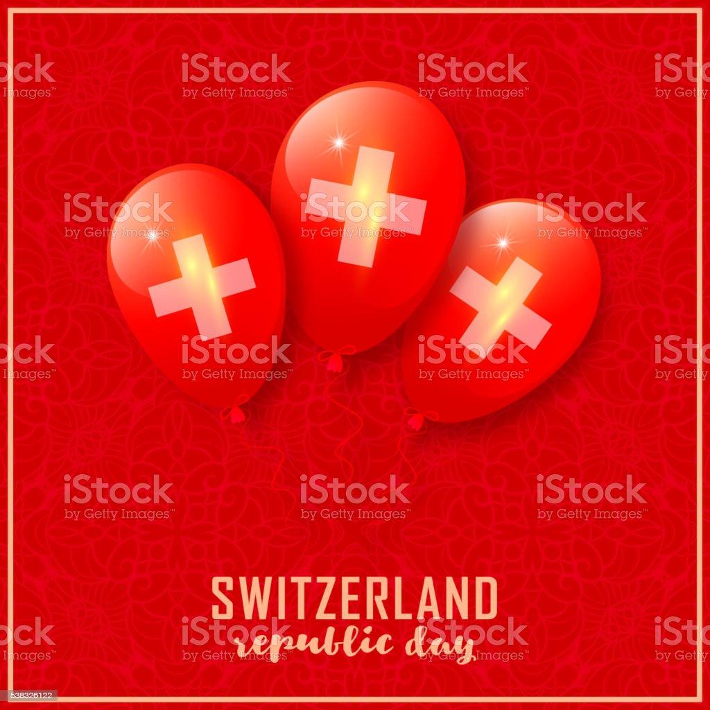 Switzerland patriotic design vector art illustration