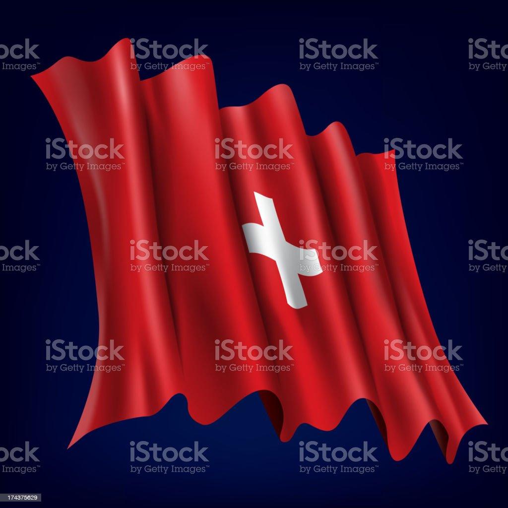 Switzerland, Swiss Flag royalty-free stock vector art