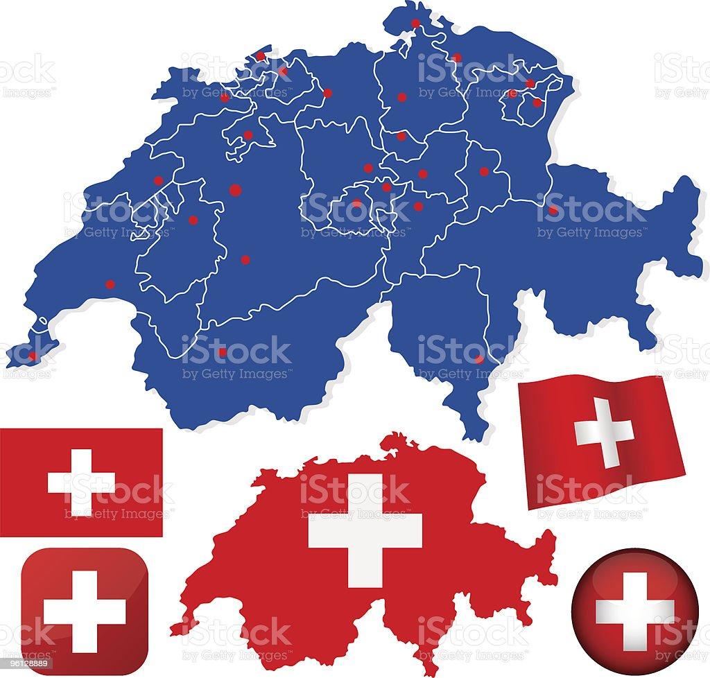 Switzerland vector set vector art illustration