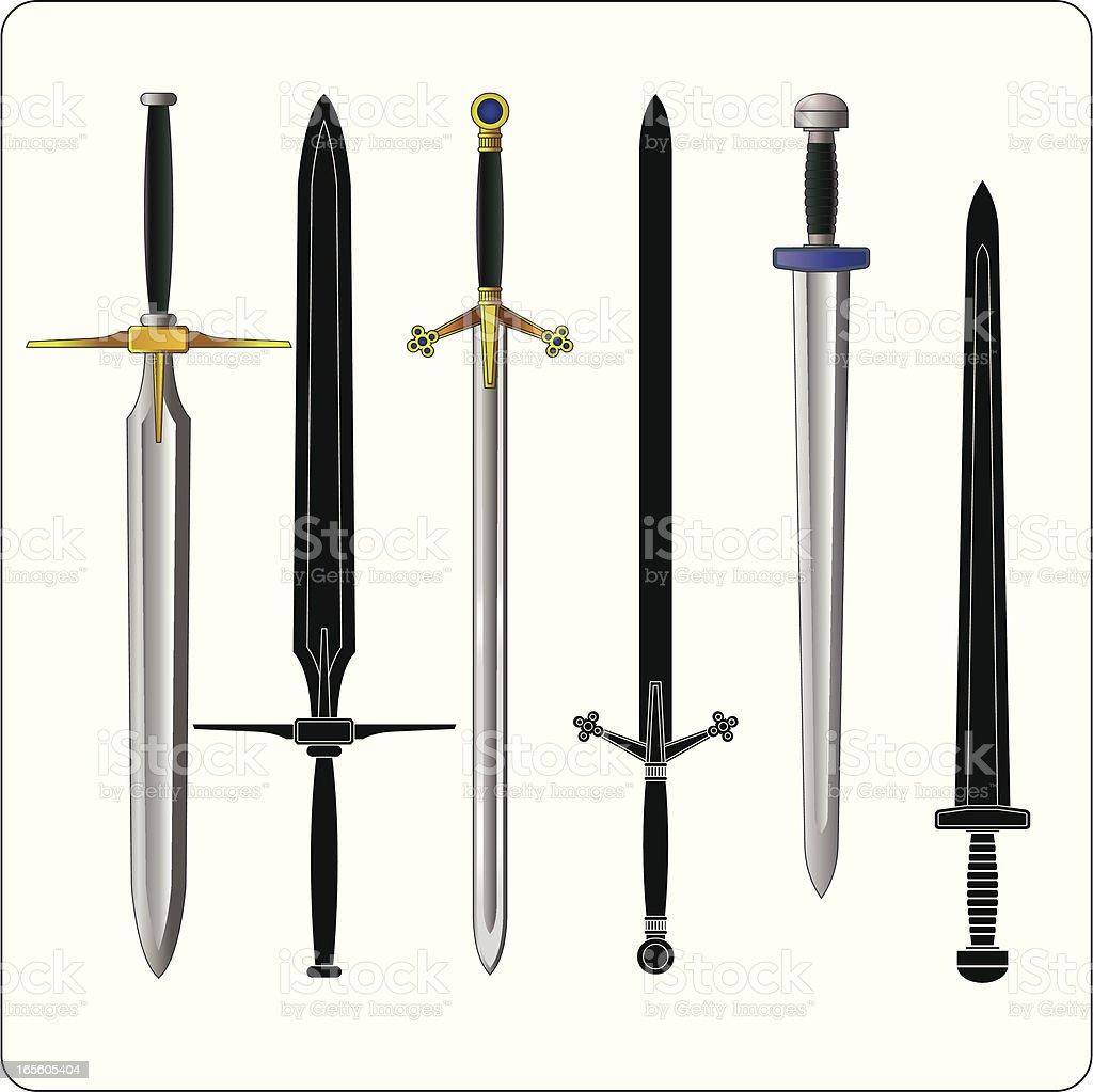 Swords vector art illustration