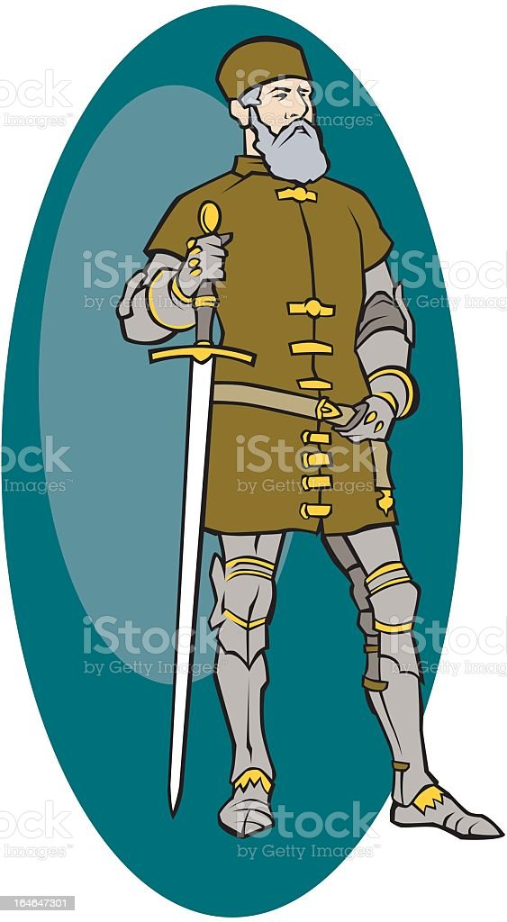 Swordsman royalty-free stock vector art