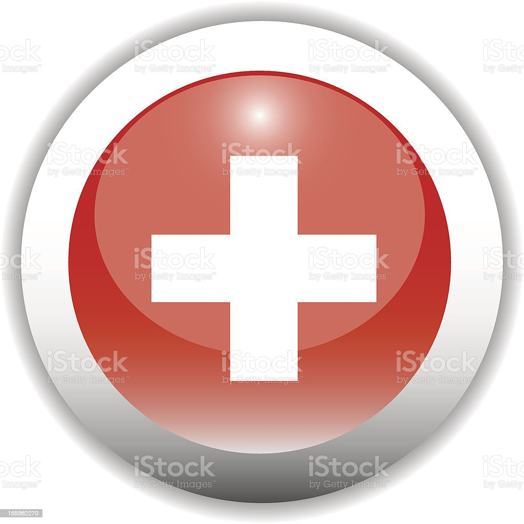 Swtizerland Flag Button (Icon) royalty-free stock vector art