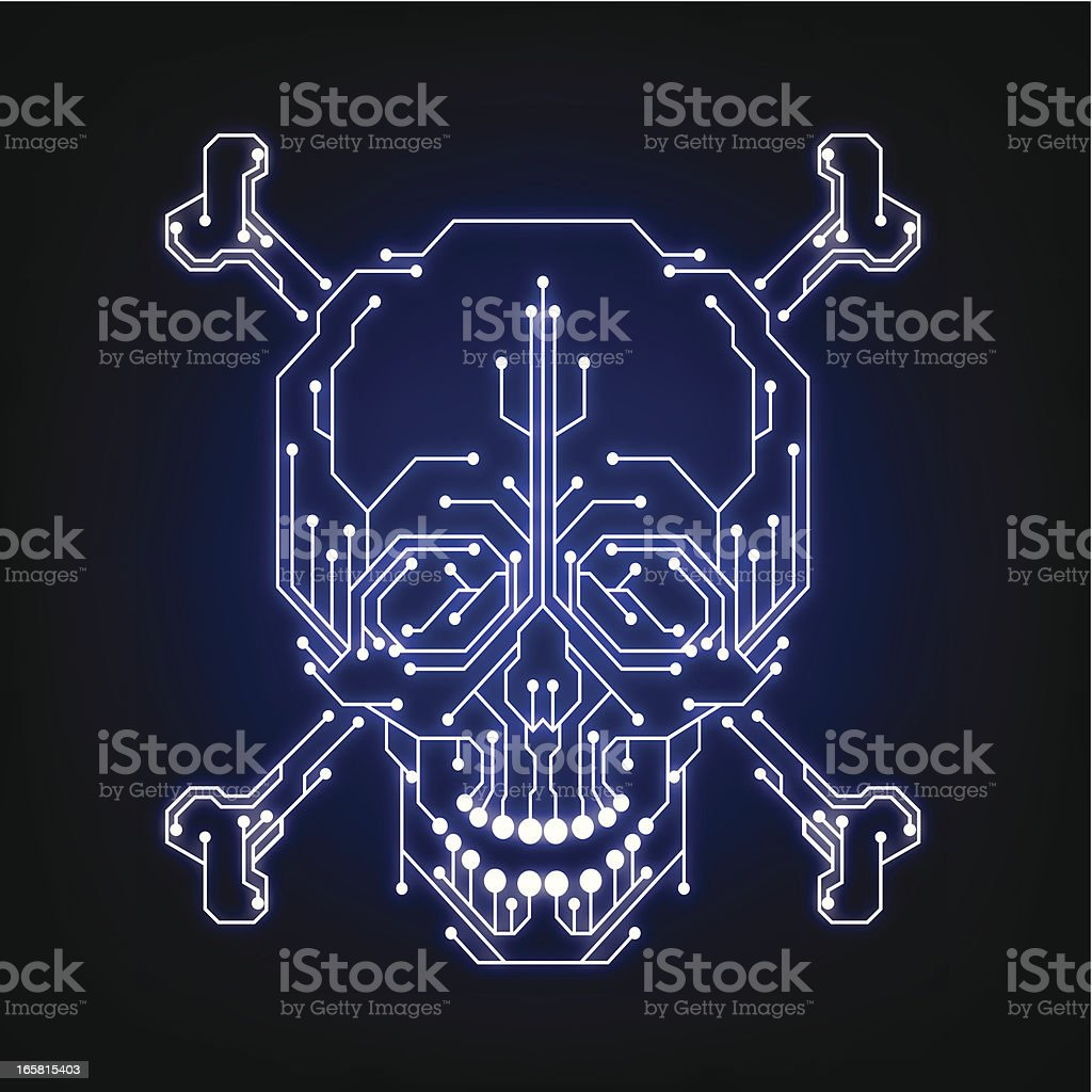 Syber piracy symbol (hacker, cracker) royalty-free stock vector art