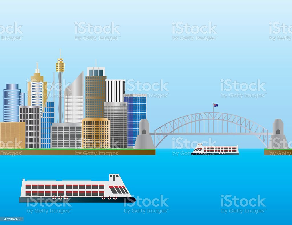 Sydney Australia Skyline Vector Illustration vector art illustration