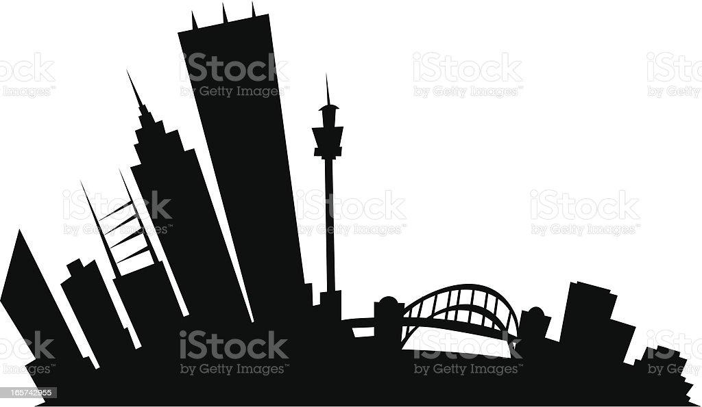 Sydney Cartoon City vector art illustration
