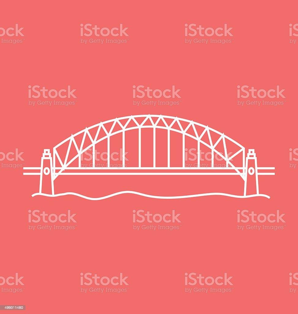 Sydney Harbour Bridge Solid Vector Illustration vector art illustration