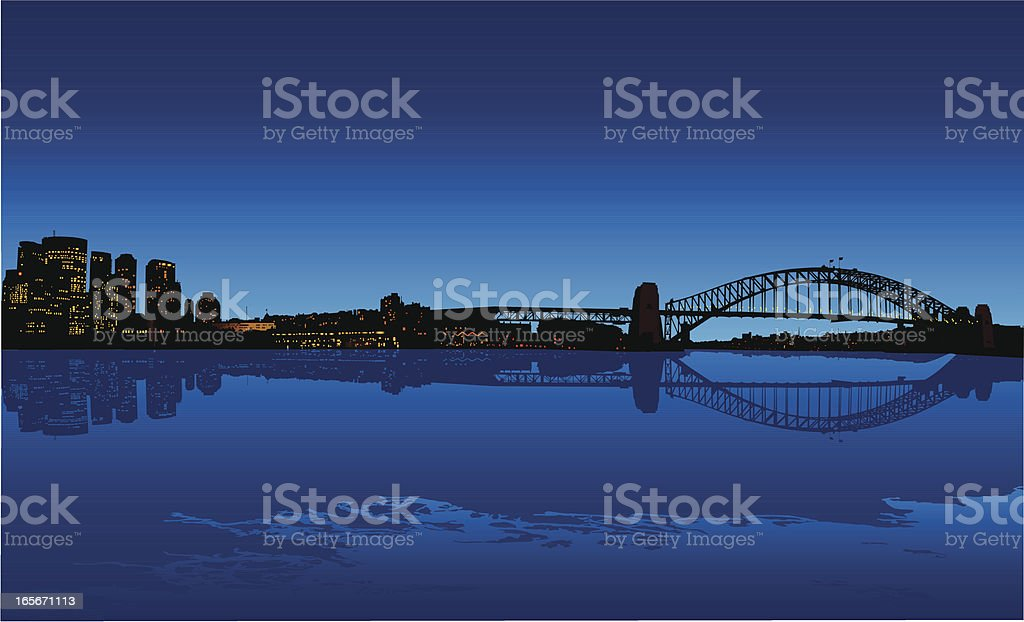 Sydney Harbour royalty-free stock vector art