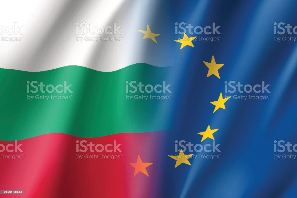 Symbol Bulgaria is EU member. vector art illustration