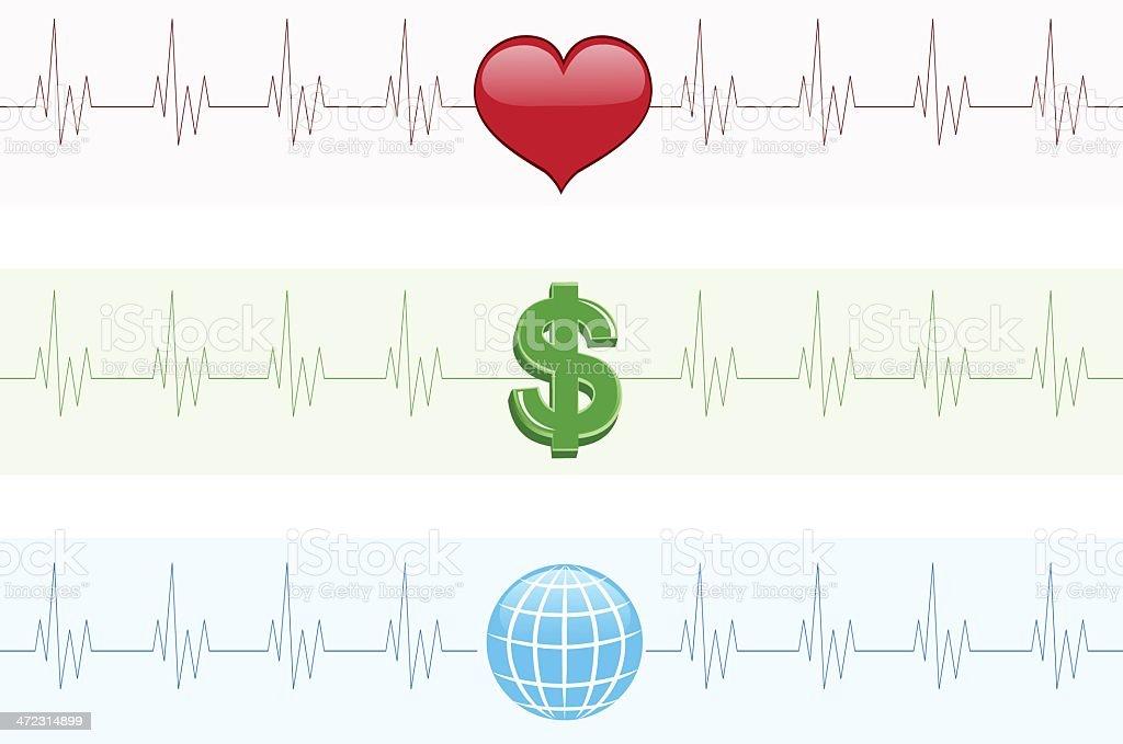 Symbol Cardiograms vector art illustration