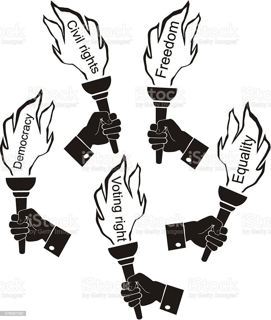symbol civil rights vector art illustration