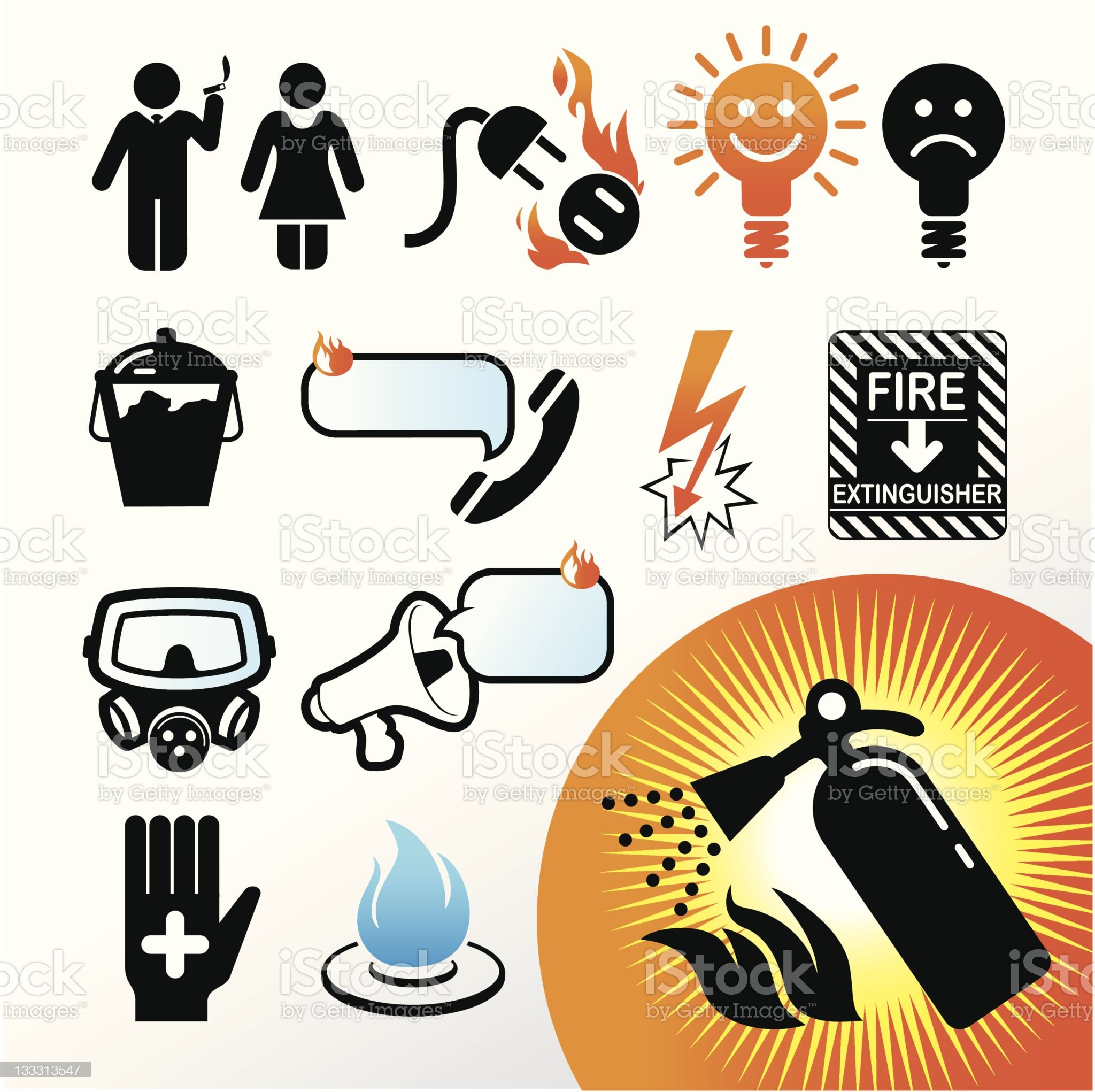 symbol extinguisher royalty-free stock vector art