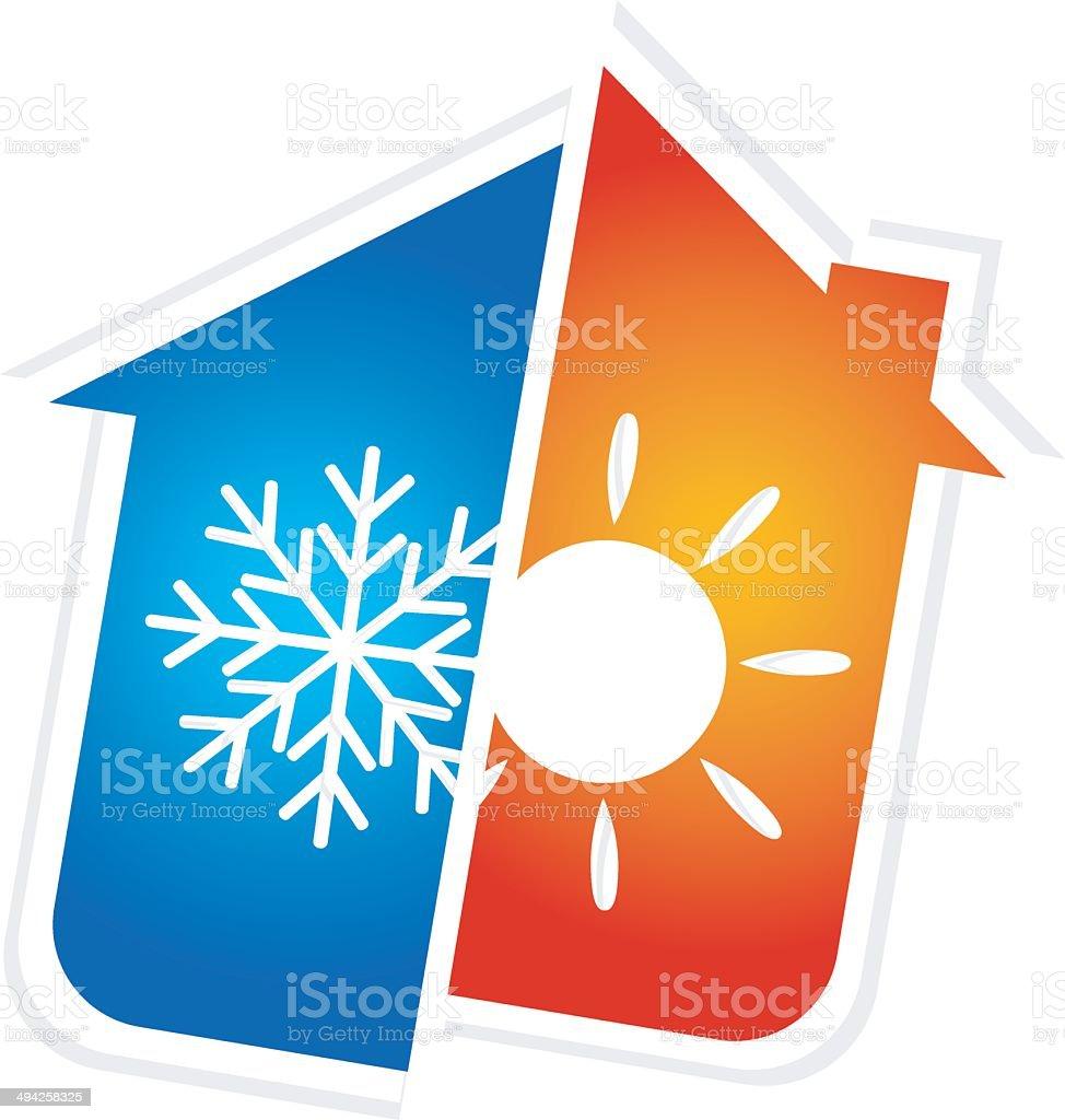 symbol of air conditioning vector art illustration