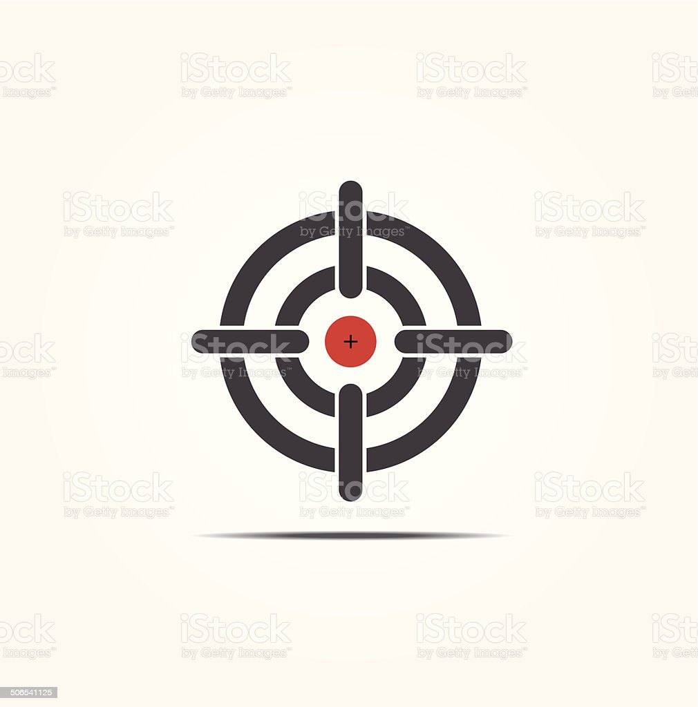 Symbol of crosshair vector art illustration