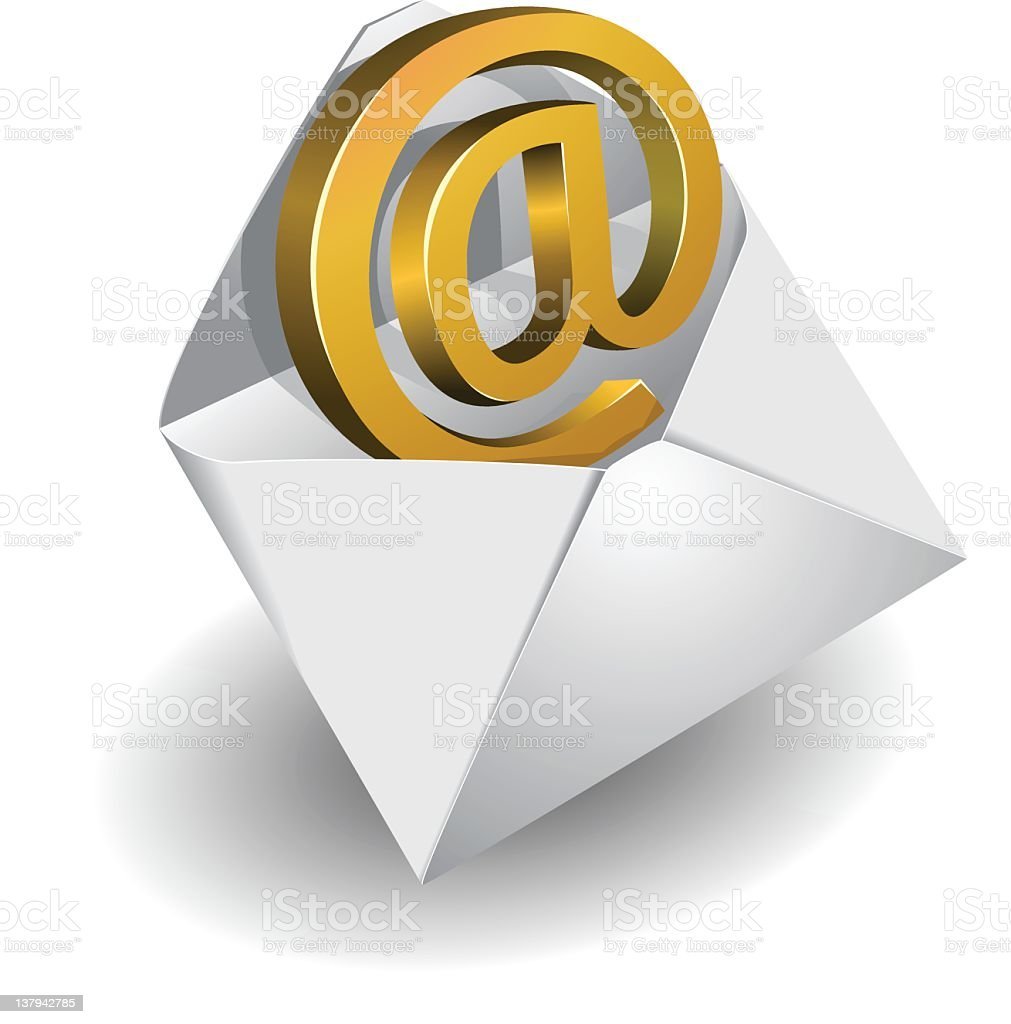 Symbol of e-mail royalty-free stock vector art