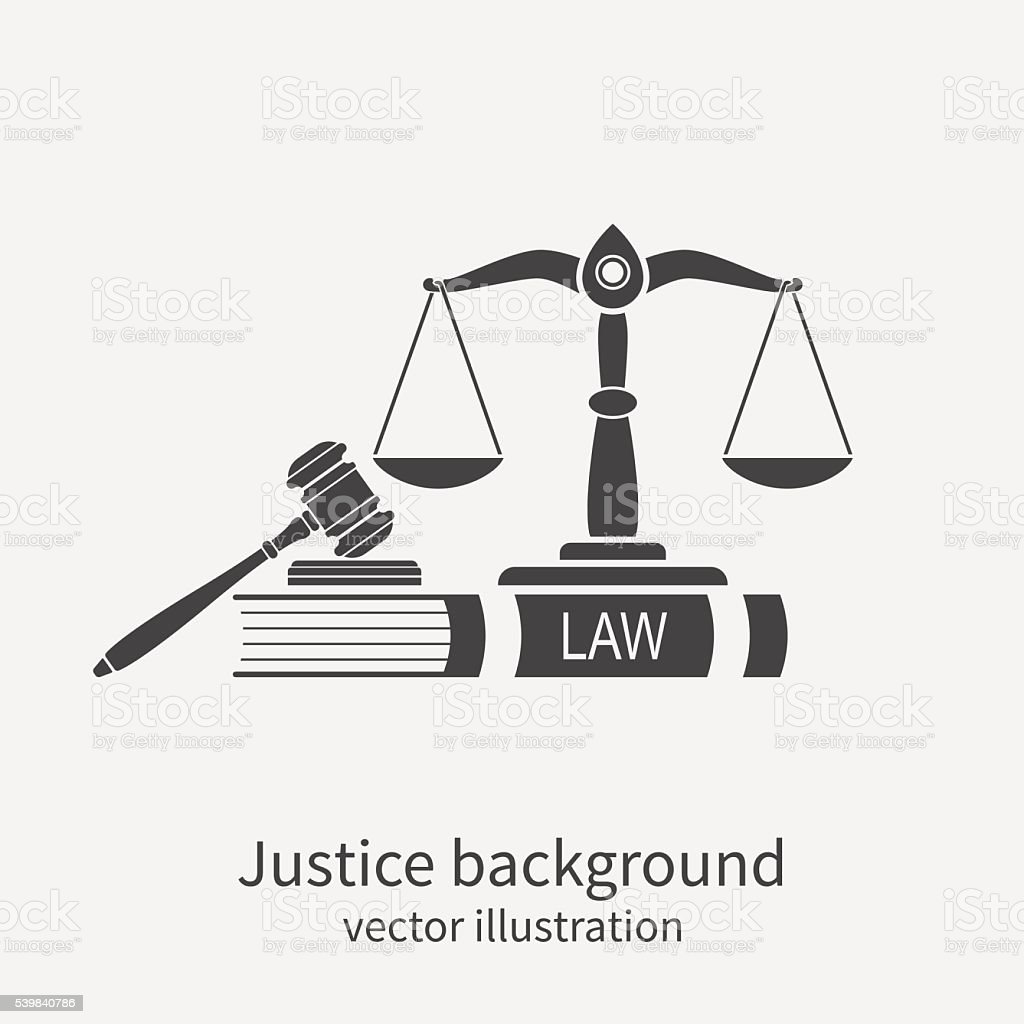 Symbol of law and justice. Concept law and justice. vector art illustration