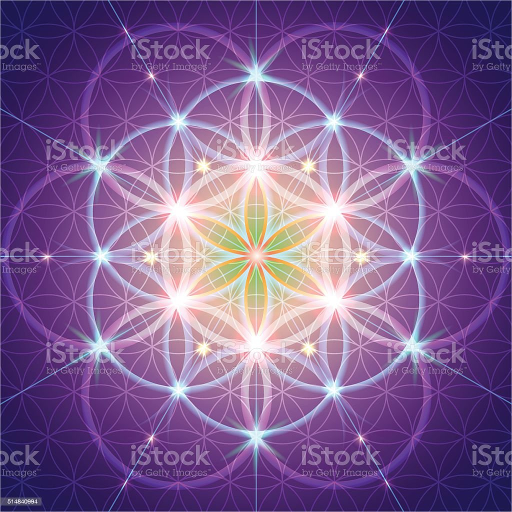 symbol of Sacred Geometry vector art illustration