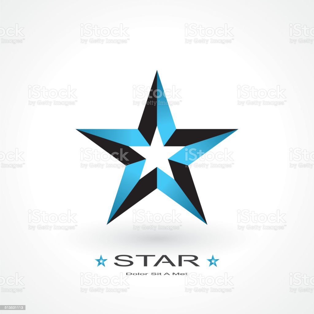 symbol of star vector art illustration