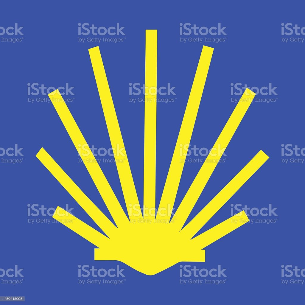 Symbol of the Camino de Santiago vector art illustration