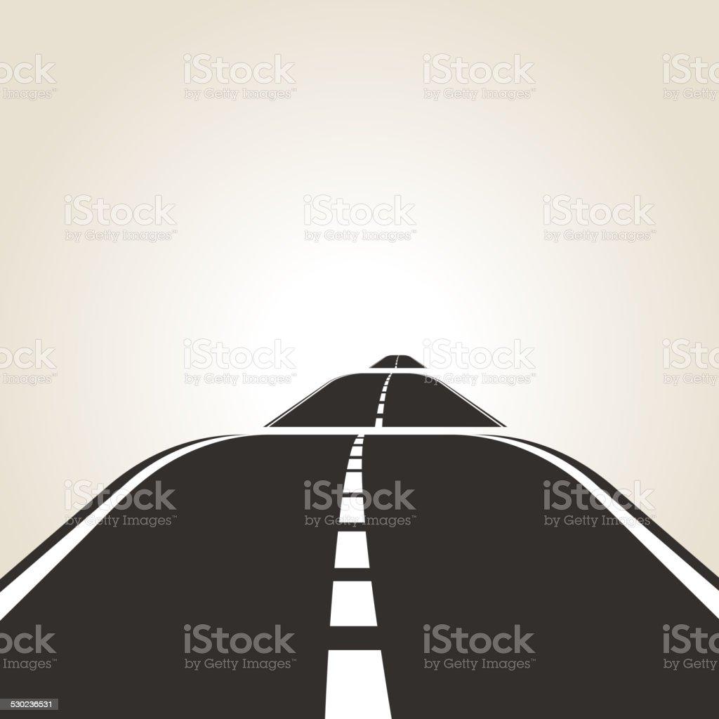symbol of the road vector art illustration