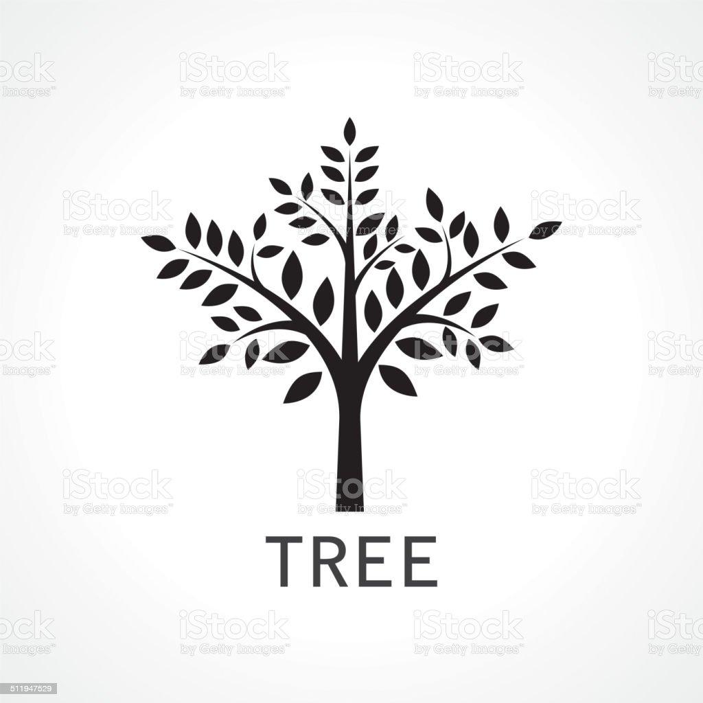 symbol of tree vector art illustration