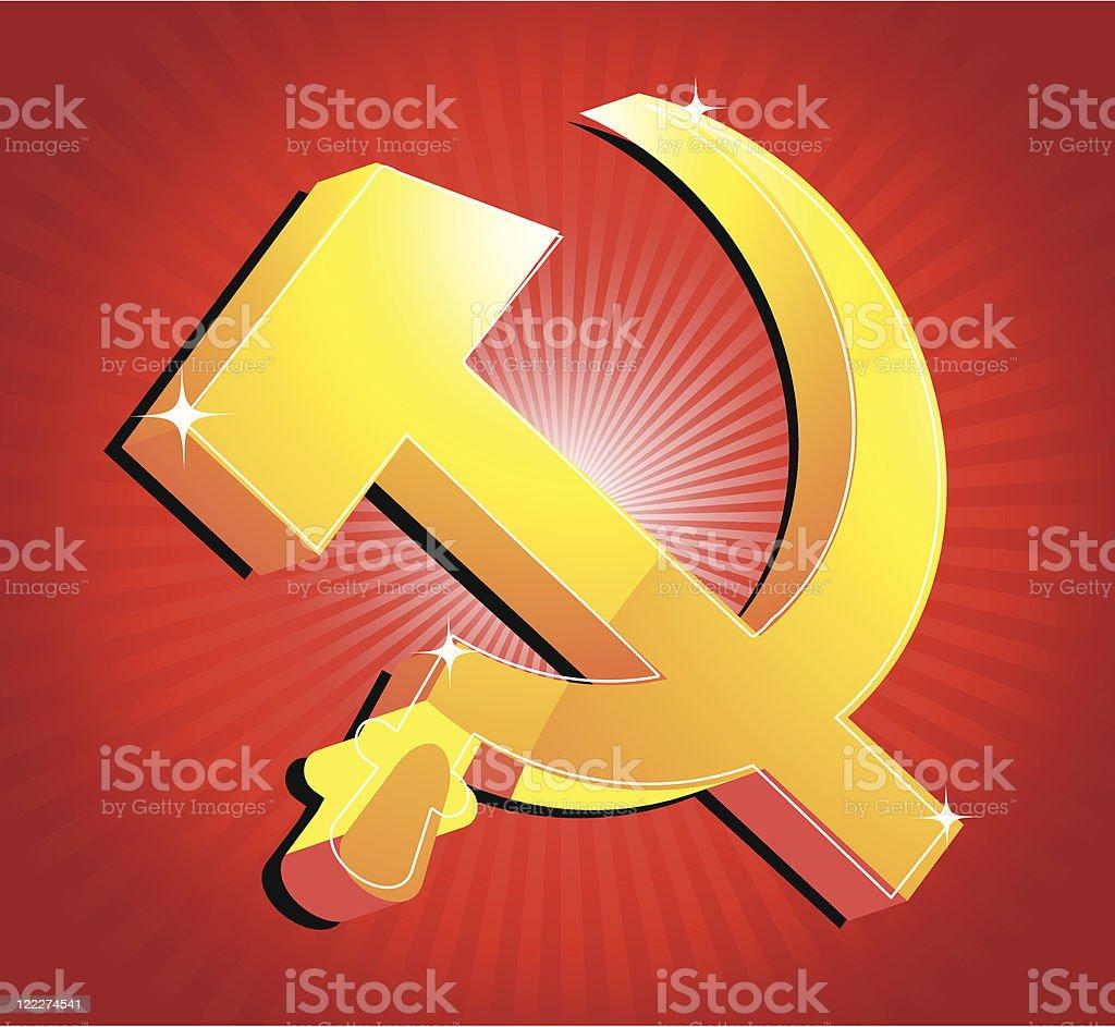 Symbol of USSR royalty-free stock vector art