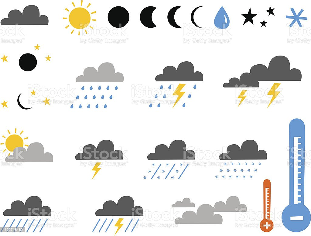 symbol of weather vector art illustration