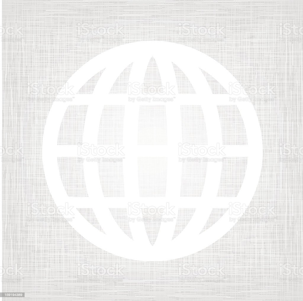 Symbol on textured paper royalty-free stock vector art