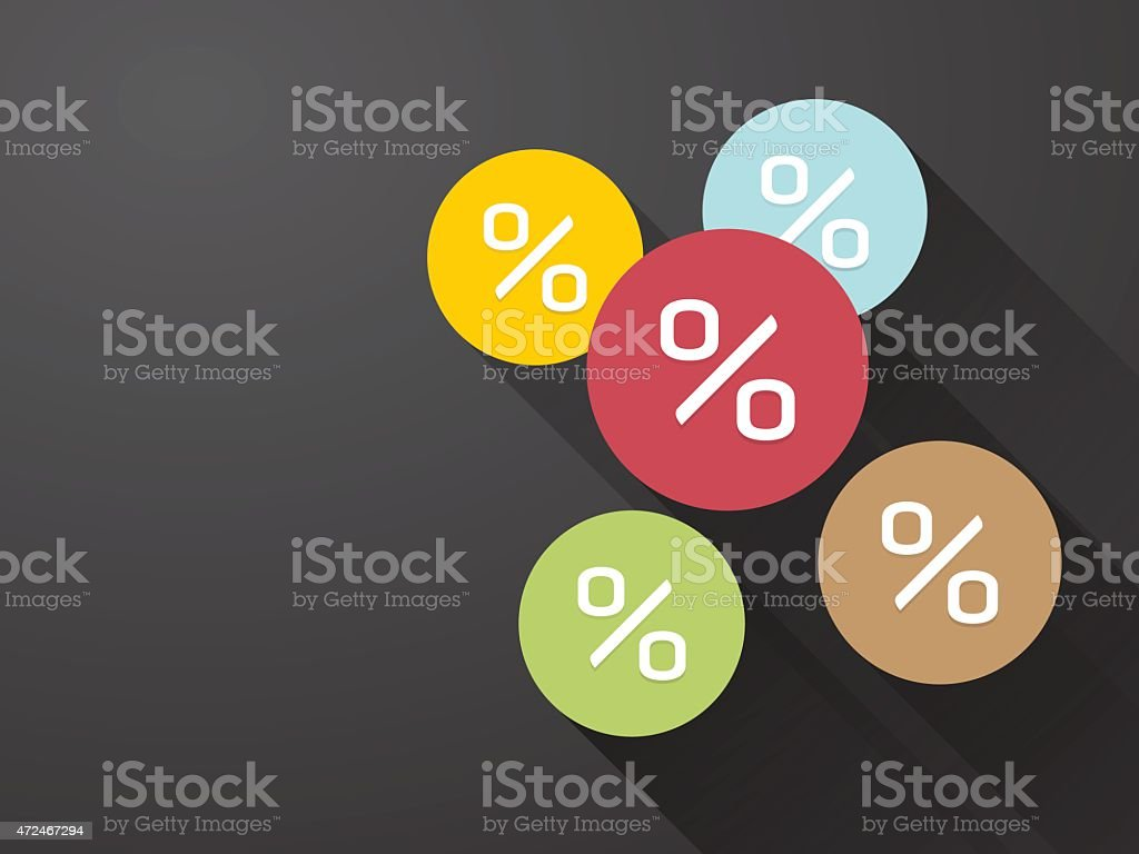 symbol percent discounts and blur icon vector art illustration