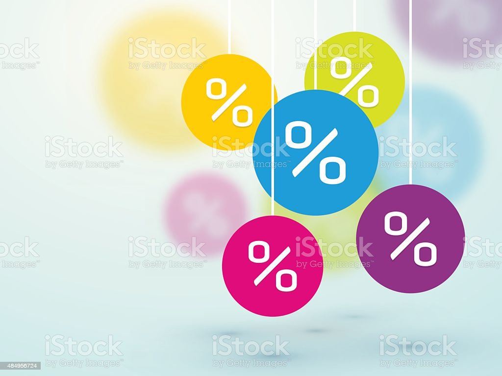 symbol percent discounts and blur icons vector art illustration