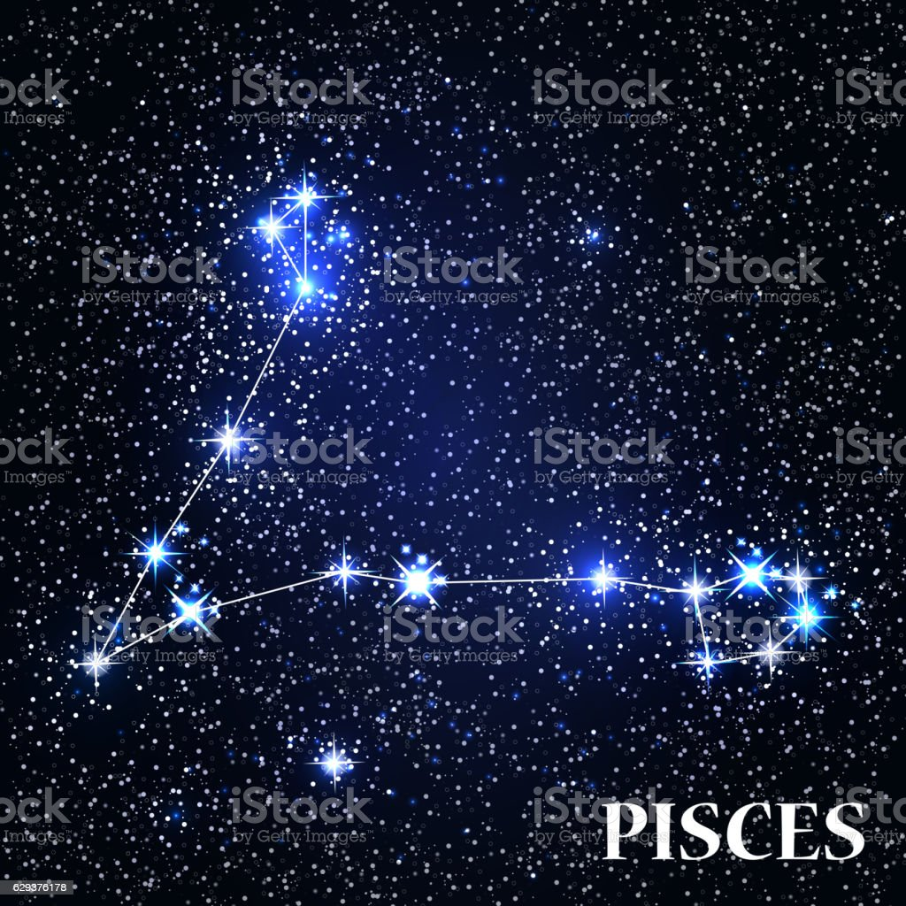 Symbol Pisces Zodiac Sign. Vector Illustration. vector art illustration