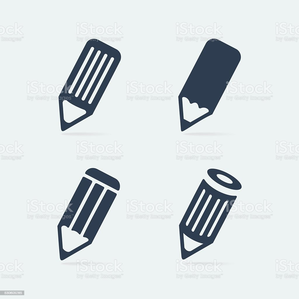 Symbol set pen vector art illustration