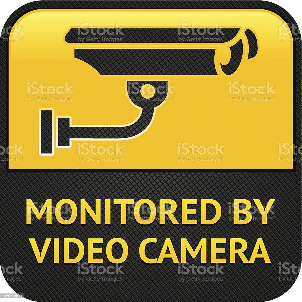 Символ, Знак видеонаблюдения CCTV векторная иллюстрация
