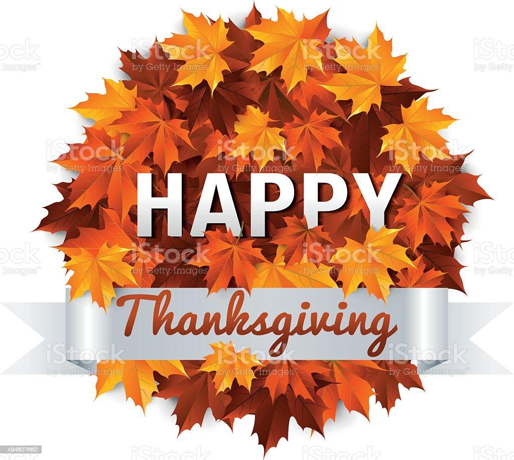 Symbol Thanksgiving vector art illustration
