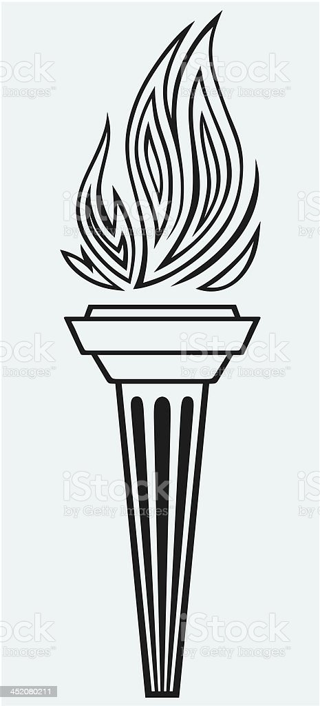 Symbol torch royalty-free stock vector art