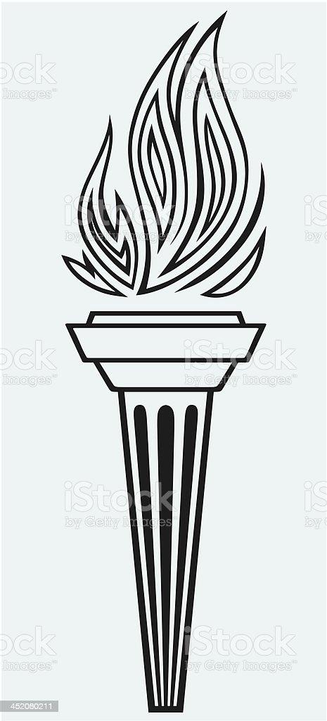 Symbol torch vector art illustration