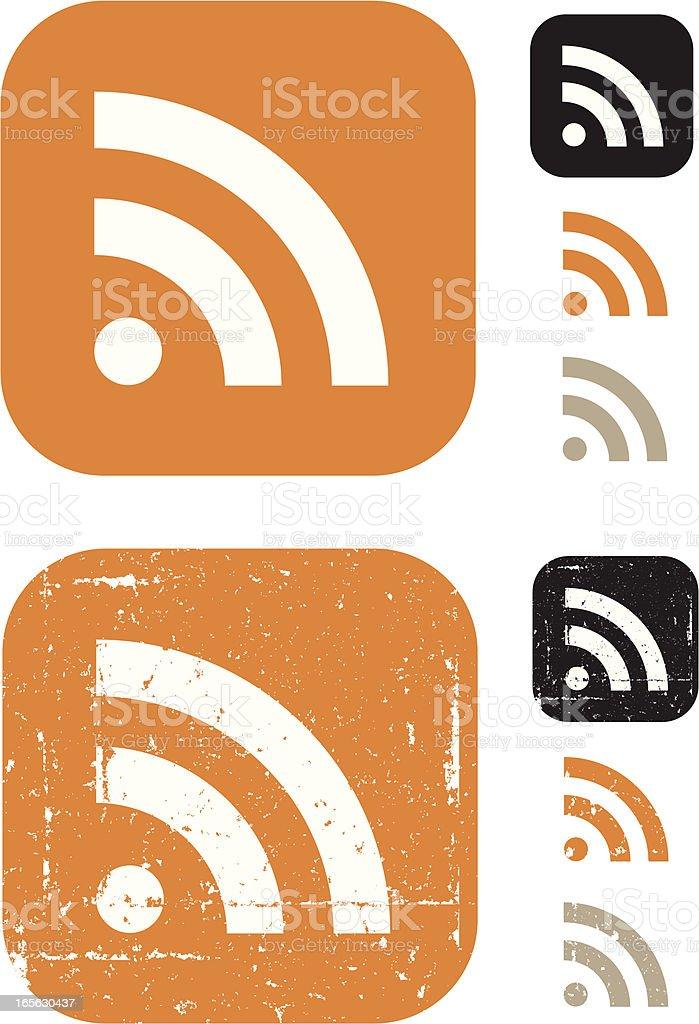 RSS Symbol vector art illustration