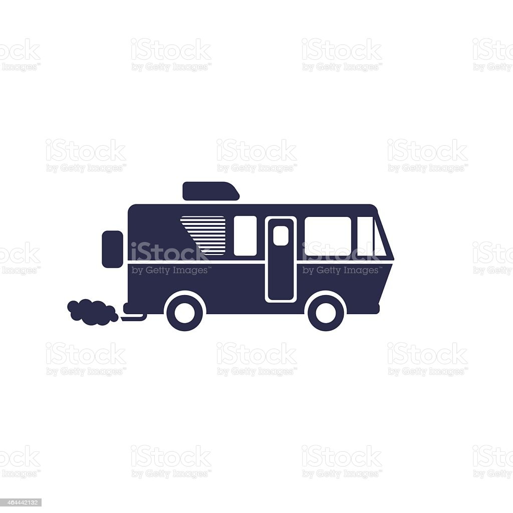 RV symbol vector art illustration