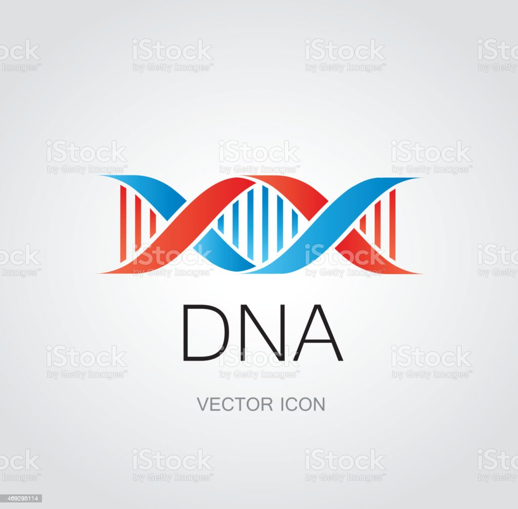 DNA symbol vector art illustration