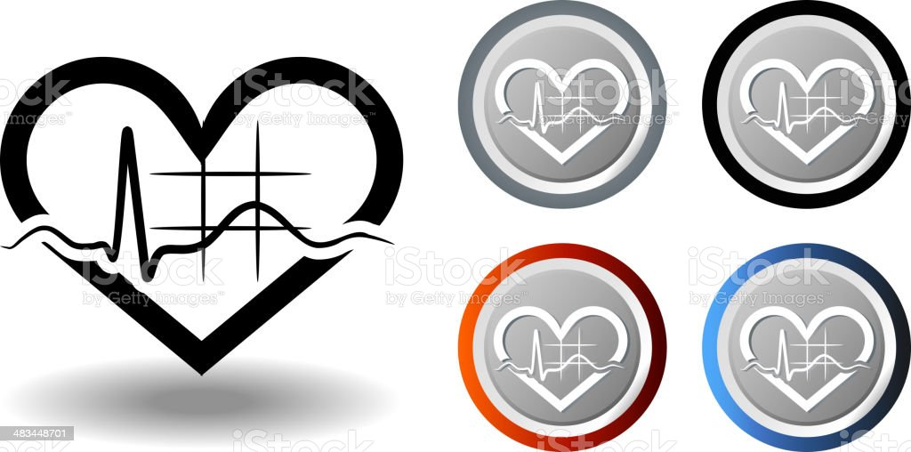 ECG Symbol royalty-free stock vector art