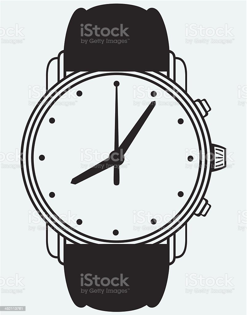 Symbol wristwatch royalty-free stock vector art