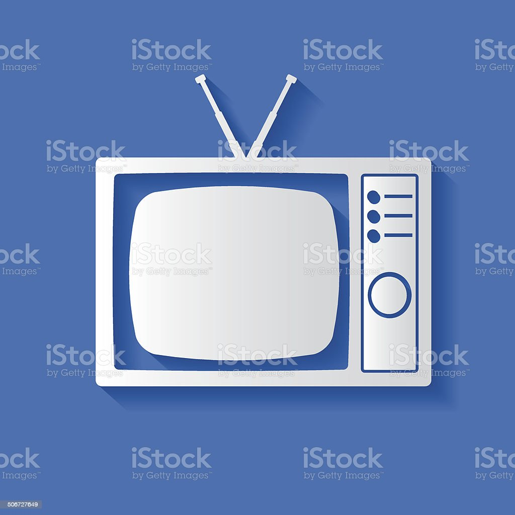 TV symbol,clean vector royalty-free stock vector art