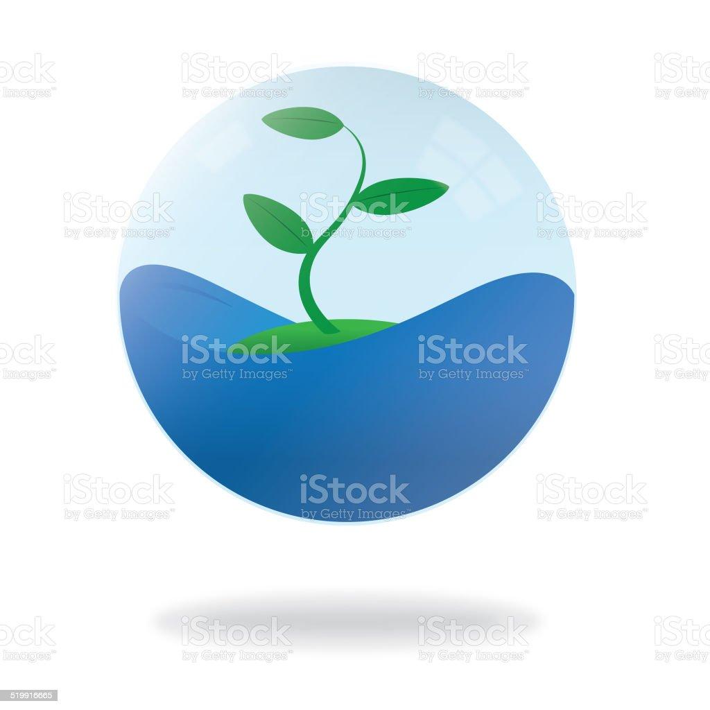 Symbolic Enclosed Ecosystem vector art illustration