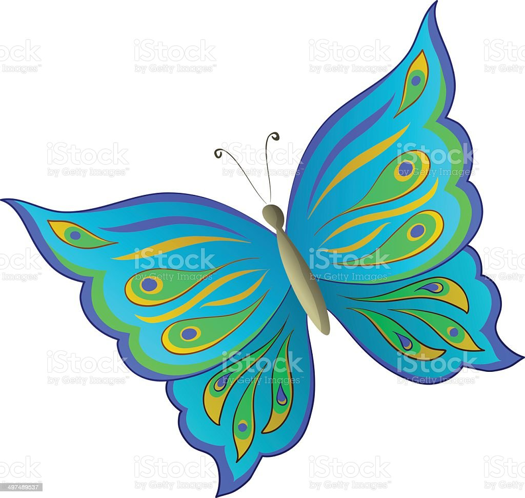 Symbolical colorful butterfly royalty-free stock vector art