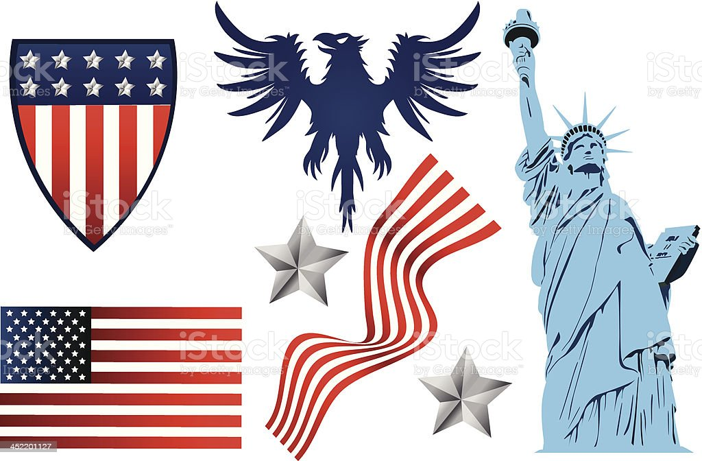 Symbols of America royalty-free stock vector art