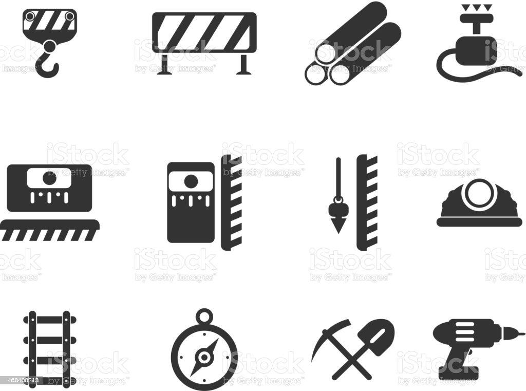 Symbols of building equipment royalty-free stock vector art