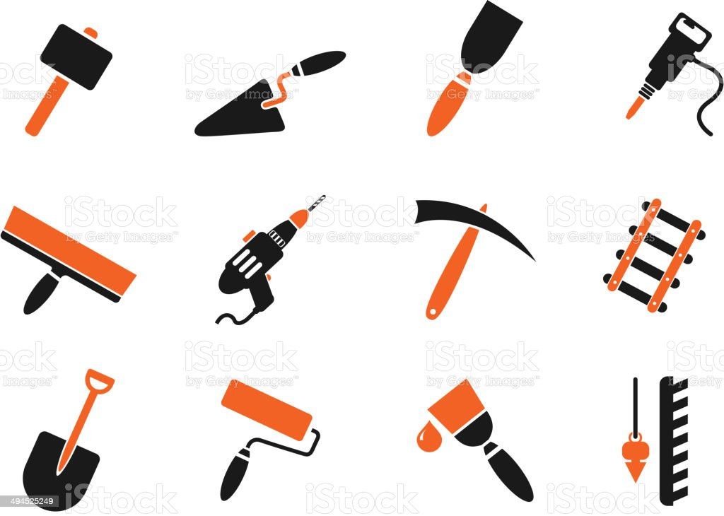 Symbols of building equipment royalty-free stock vector art