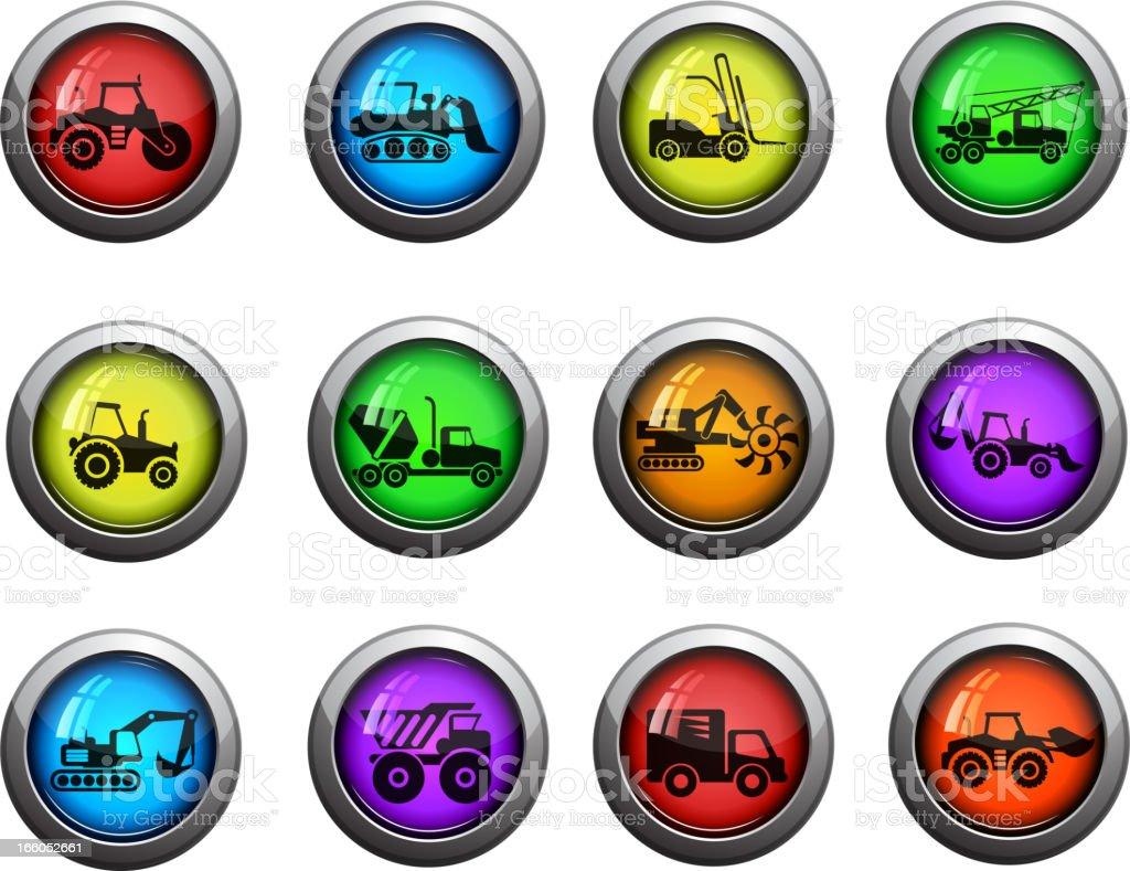 Symbols of Construction Machines royalty-free stock vector art