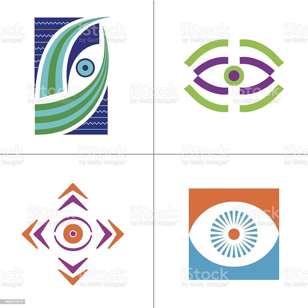 Symbols of Eye - Vector royalty-free stock vector art