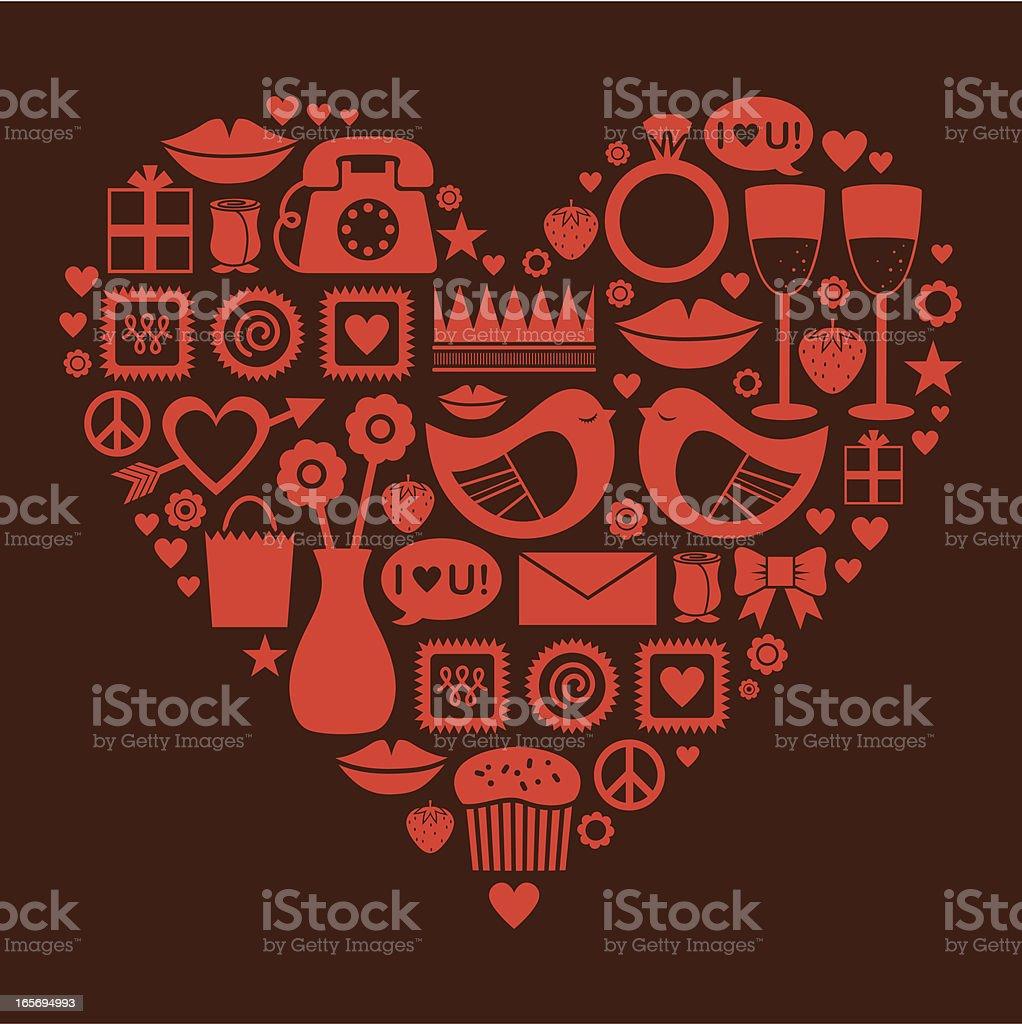 Symbols of Love royalty-free stock vector art